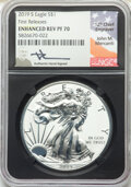 2019-S $1 Silver Eagle, Enhanced Reverse Proof, First Releases, Mercanti Signature, PR70 NGC. NGC Census: (0). PCGS Popu...