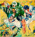 Football Collectibles:Others, 1967 New York Jets Original Painting by LeRoy Neiman Used for Jets Program Covers....