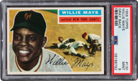 1956 Topps Willie Mays (Gray Back) #130 PSA Mint 9