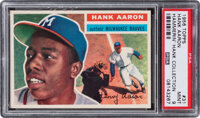 "1956 Topps Hank Aaron (White Back) #31 PSA Mint 9 from ""The Hammerin' Hank Collection"" Registry Set"