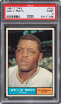 Baseball Cards:Singles (1960-1969), 1961 Topps Willie Mays #150 PSA Mint 9 - Only One Higher....
