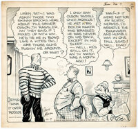 Gene Ahern Our Boarding House with Major Hoople Daily One-Panel Comic Strip Original Art dated 11-7-35 (NEA Servic