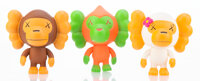 KAWS X BAPE Baby Milo (three works), 2005 Painted cast vinyl 4 x 5 inches (10.2 x 12.7 cm) (each)