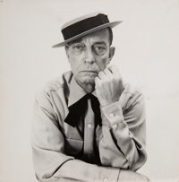 Attributed to Richard Avedon (American, 1923-2004) Buster Keaton for Harper's Bazaar, 1959 Gelatin s