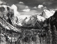 Ansel Adams (American, 1902-1984) Yosemite Valley from Inspiration Point, Winter, Yosemite National Park, Calif