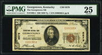 Georgetown, KY - $20 1929 Ty. 1 The Georgetown National Bank Ch. # 8579 PMG Very Fine 25