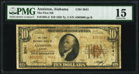 Anniston, AL - $10 1929 Ty. 2 The First National Bank Ch. # 3041 PMG Choice Fine 15