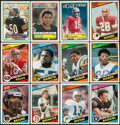 Football Cards:Sets, 1983 and 1984 Topps Football High Grade Complete Sets (2). ...