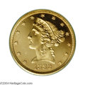 Proof Liberty Half Eagles: , 1882 $5 PR65 Cameo PCGS. While 1882 business strikes are ...