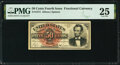 Fr. 1374 50¢ Fourth Issue Lincoln PMG Very Fine 25
