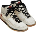 Basketball Collectibles:Others, 1987 Michael Jordan Game Worn & Dual-Signed Air Jordan II Sneakers....