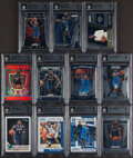 Baseball Cards:Lots, 2019-20 Panini Contenders, Donruss & Prizm Zion Williamson BGS Mint 9 Collection (11)....