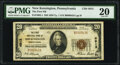New Kensington, PA - $20 1929 Ty. 1 The First National Bank Ch. # 4913 PMG Very Fine 20