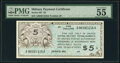 Series 461 $5 PMG About Uncirculated 55 EPQ