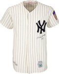 """Baseball Collectibles:Uniforms, Circa 1990 Mickey Mantle """"No. 7"""" Signed New York Yankees UDA Jersey - Limited 403/536...."""
