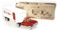 Antiques:Toys, Lot of Six Toy Pressed Steel Trucks, Some in the Original Box.... (Total: 7 Items)