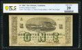 Obsoletes By State:Louisiana, New Orleans, LA-Red River Packet Co. $1 Dec. 1, 1861 PCGS Banknote Very Fine 20.. ...