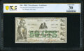 Obsoletes By State:Louisiana, Terrebonne, LA- Houma Consolidated Association 50¢ Apr. 10, 1862 PCGS Banknote Very Fine 30 Details.. ...