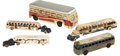 Antiques:Toys, Large Lot of Toy Transportation Buses & Automobiles.... (Total: 4 Items)