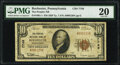 Rochester, PA - $10 1929 Ty. 1 The Peoples National Bank Ch. # 7749 PMG Very Fine 20