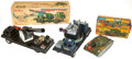 Antiques:Toys, A Fine Group Lot of Tinplate Military Toys & Airplanes.... (Total: 4 Items)