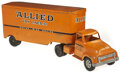 Antiques:Toys, Lot of Four Trucks including Two Allied Van Lines and Two Marx Tin Litho Trucks. ... (Total: 7 Items)