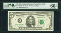 Small Size:Federal Reserve Notes, Fr. 1976-B* $5 1981 Federal Reserve Note. PMG Gem Uncirculated 66 EPQ.. ...