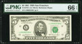 Small Size:Federal Reserve Notes, Fr. 1976-L $5 1981 Federal Reserve Note. PMG Gem Uncirculated 66 EPQ.. ...