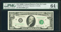 Fr. 2020-H* $10 1969B Federal Reserve Note. PMG Choice Uncirculated 64 EPQ