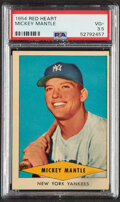 Baseball Cards:Singles (1950-1959), 1954 Red Heart Mickey Mantle PSA VG+ 3.5....