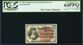 J. N. Huston Courtesy Autographed Fr. 1261 10¢ Fourth Issue PCGS Very Choice New 64PPQ