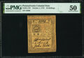 Colonial Notes:Pennsylvania, Pennsylvania October 1, 1773 10s PMG About Uncirculated 50.. ...