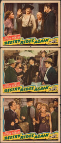 """Movie Posters:Western, Destry Rides Again (Universal, 1939). Fine. Lobby Cards (3) (11"""" X 14""""). Western.. ... (Total: 3 Items)"""