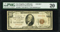 National Bank Notes:California, Los Angeles, CA - $10 1929 Ty. 1 The Farmers & Merchants National Bank Ch. # 6617 PMG Very Fine 20.. ...
