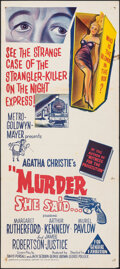 "Movie Posters:Mystery, Murder She Said & Other Lot (MGM, 1962). Folded, Overall: Fine/Very Fine. Australian Daybills (2) (13.25"" X 30""). Mystery.. ... (Total: 2 Items)"