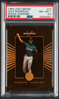 Baseball Cards:Singles (1970-Now), 1994 Leaf Limited Rookie Phenoms Alex Rodriguez #10 PSA NM-MT+ 8.5....