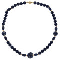 Estate Jewelry:Necklaces, Sodalite, Gold Necklace. ...