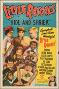 """Movie Posters:Comedy, Little Rascals Stock Poster (Monogram, R-1951). Folded, Very Fine-. One Sheet (27"""" X 41"""") """"Hide and Shriek."""" Comedy."""