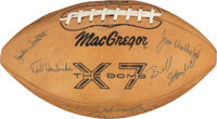 1968 Jake Scott College All-American Team Signed Football, Letterman's Jacket & Awards Lot of 4 from The Jake Scott...