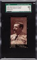 Baseball Cards:Singles (Pre-1930), 1895 N300 Mayo Cut Plug Dan Brouthers (Baltimore) SGC 60 EX 5 - Pop One, None Higher! ...