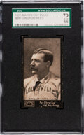 Baseball Cards:Singles (Pre-1930), 1895 N300 Mayo Cut Plug Dan Brouthers (Louisville) SGC 70 EX+ 5.5 - Pop One, None Higher! ...