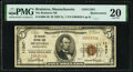 Braintree, MA - $5 1929 Ty. 1 The Braintree National Bank Ch. # 11347 Replacement PMG Very Fine 20