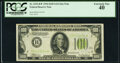Small Size:Federal Reserve Notes, Fr. 2152-B* $100 1934 Light Green Seal Federal Reserve Note. PCGS Extremely Fine 40.. ...