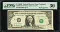 Error Notes:Miscellaneous Errors, Paper Jam Error Fr. 1905-D* $1 1969B Federal Reserve Star Note. PMG Very Fine 30.. ...