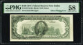 Error Notes, Partial Face to Back Offset Error Fr. 2167-K $100 1974 Federal Reserve Note. PMG Choice About Unc 58.. ...