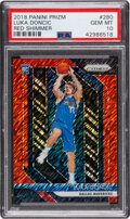 Basketball Cards:Singles (1980-Now), 2018 Panini Prizm Luka Doncic (Red Shimmer) #280 PSA Gem Mint 10 - #'d 1/7....