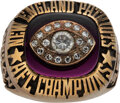 Football Collectibles:Others, 1985 New England Patriots AFC Championship Ring Presented to Stanley Morgan....