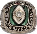 Football Collectibles:Others, 1965 Green Bay Packers NFL Championship Ring Presented to Team Physician....