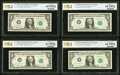 $1 Federal Reserve Star Notes PCGS Banknote Graded. Fr. 1901-G* 1963A Gem Unc 65 PPQ; Fr. 1901-H* 1963A Choice Unc 6...