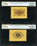 Fr. 1231SP 5¢ First Issue Wide Margin Pair PCGS Banknote Gem Unc 65 PPQ. ... (Total: 2 notes)